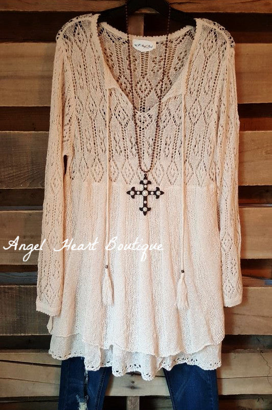 All The Love Sweater - Natural - Umgee - Sweater - Angel Heart Boutique  - 2