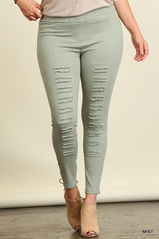 The Most Comfy Jeggings Ever - Mint
