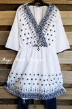 Sweet Details Tunic/Dress - Off White