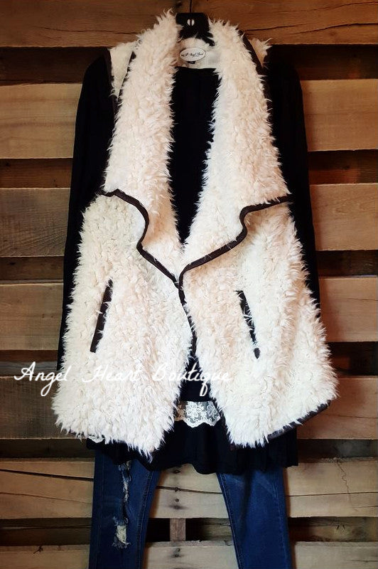 Fur Ever Great Vest - Cream - TCEC - Vest - Angel Heart Boutique  - 2
