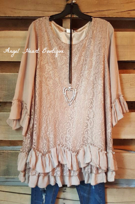 Fab Intuition Tunic - Mocha - Angel Heart Boutique - Tunic - Angel Heart Boutique  - 1