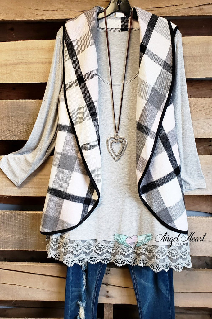 Any Occasion Tunic - Heather Gray [product type] - Angel Heart Boutique