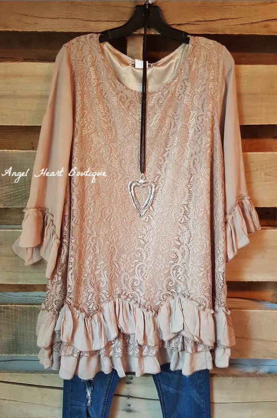 Fab Intuition Tunic - Mocha - Angel Heart Boutique - Tunic - Angel Heart Boutique  - 2