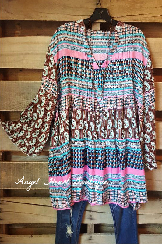 Boho Dream Tunic - Pink - Velzera - Tunic - Angel Heart Boutique