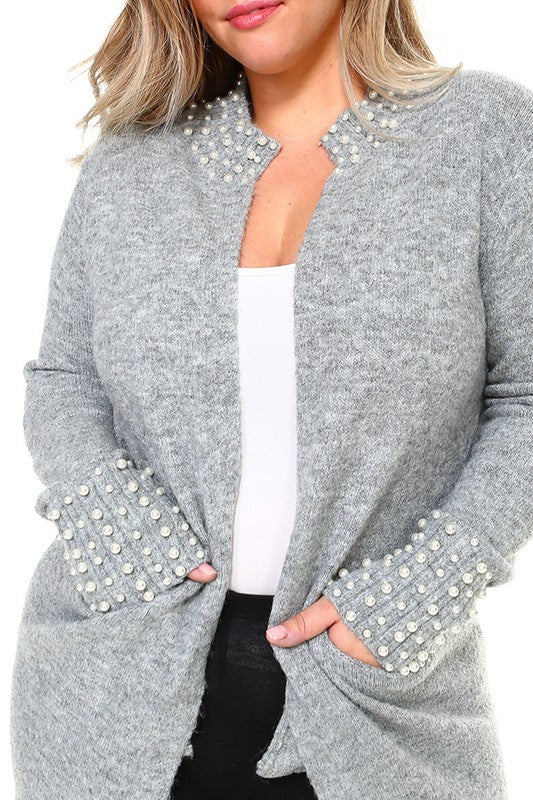 AS CLASSY AS CAN BE CARDIGAN - Grey