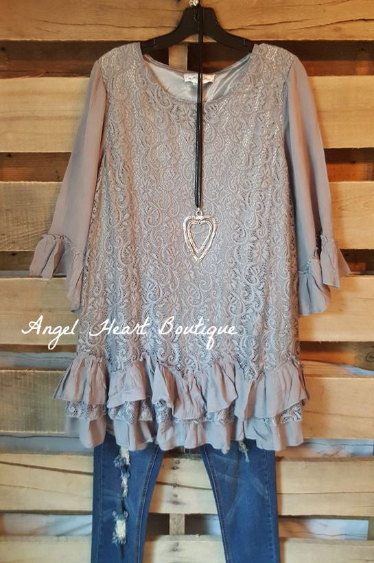 Fab Intuition Tunic - Gray - Angel Heart Boutique - Tunic - Angel Heart Boutique  - 2