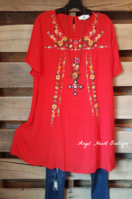 The Perfect Day Dress - Red [product type] - Angel Heart Boutique