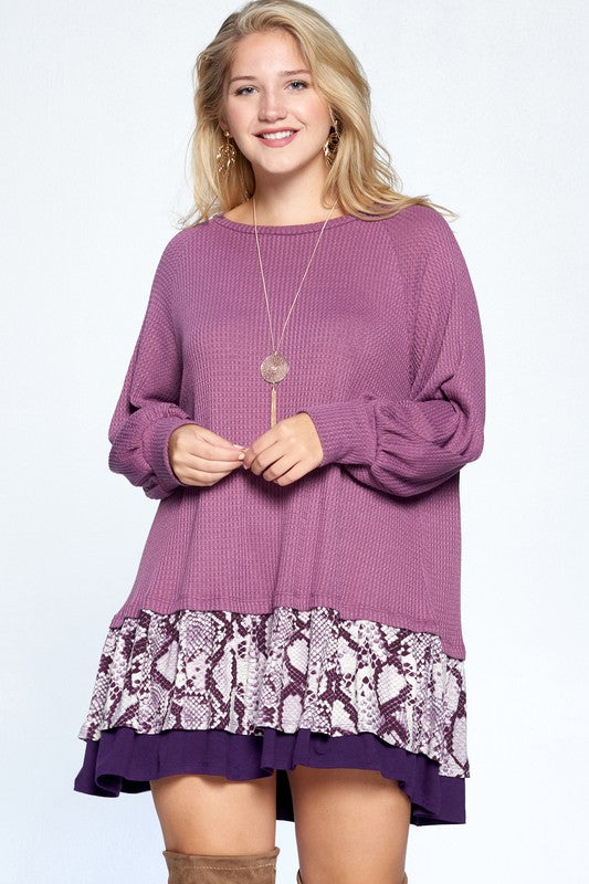 Endless Emotions Dress - Plum