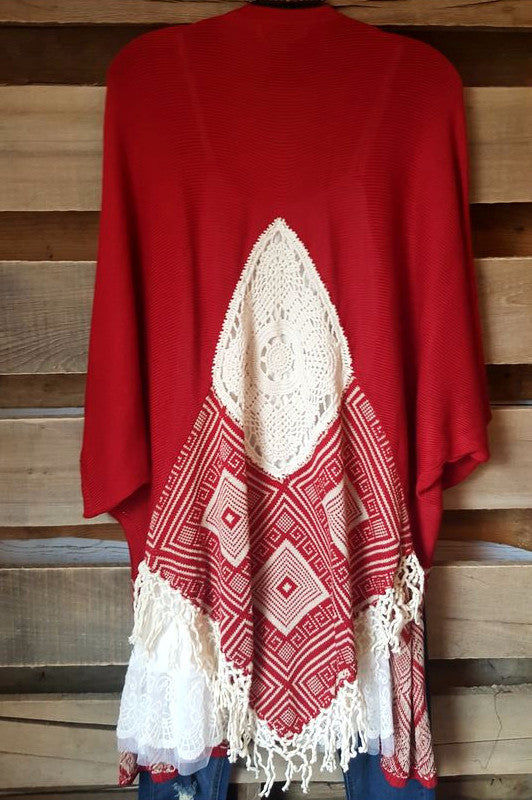 Colosseum Cardigan - Red