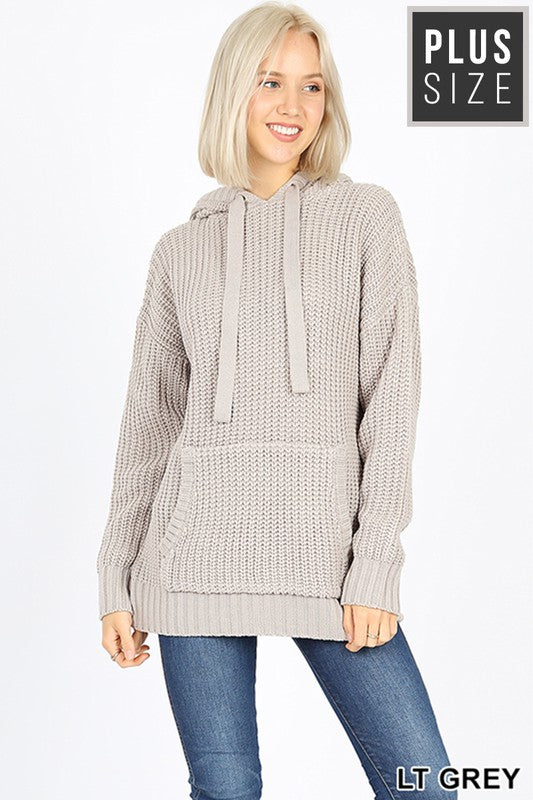 Catching Compliments Oversized Sweater  - Lt. Grey