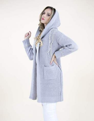 Bust Of Joy Sweater Cardigan - Gray - SALE