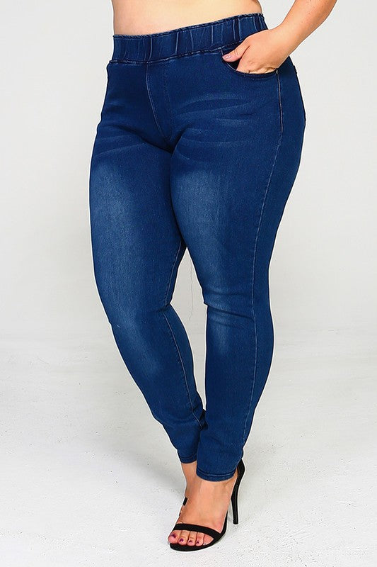 Catching My Stare Jeans - Medium Blue
