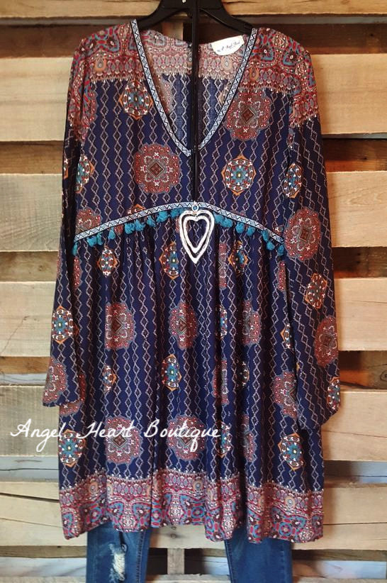 Stop & Stare Dress - Navy - Angel Heart Boutique - Dress - Angel Heart Boutique  - 1
