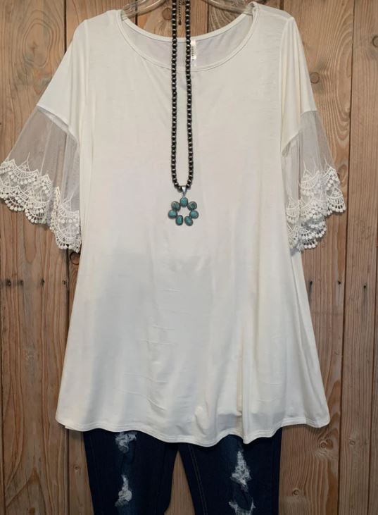 Sweet Intentions Tunic - Ivory