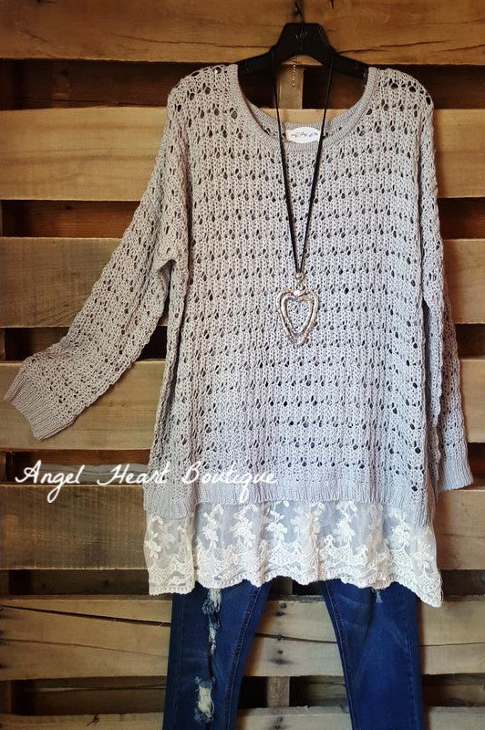 Cozy & Comfy Sweater - Grey - Umgee - Sweater - Angel Heart Boutique  - 1