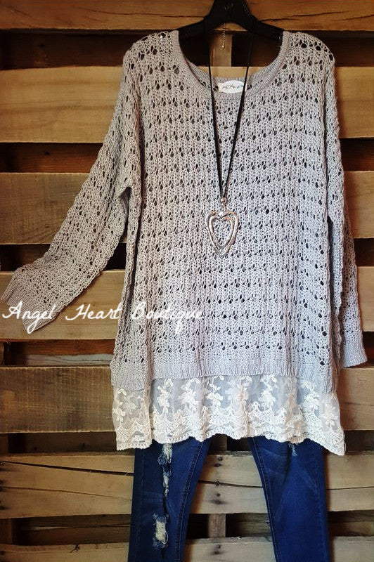 Cozy & Comfy Sweater - Grey - Umgee - Sweater - Angel Heart Boutique  - 2