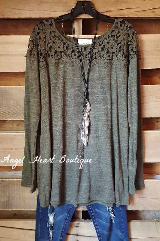 Casual & Elegant Sweater - Olive - Umgee - Sweater - Angel Heart Boutique