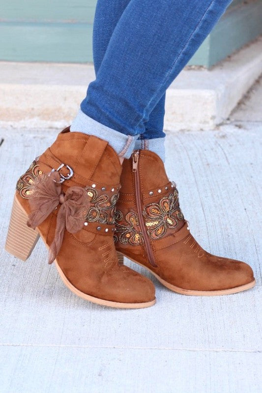 Dust On The Bottle Boots - Tan - Miami Shoe - Boots - Angel Heart Boutique  - 2