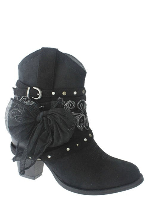 Dust On The Bottle Boots - Black - Miami Shoe - Boots - Angel Heart Boutique  - 2