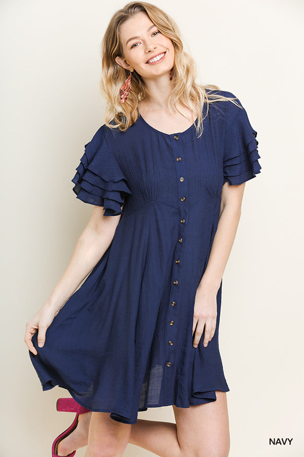 Don't Need a Reason For Love Dress - Navy