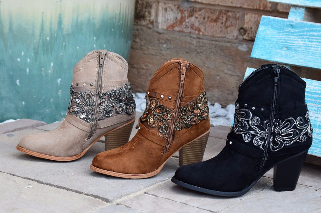 Dust On The Bottle Boots - Tan - Miami Shoe - Boots - Angel Heart Boutique  - 3
