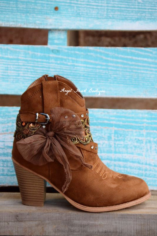 Dust On The Bottle Boots - Tan - Miami Shoe - Boots - Angel Heart Boutique  - 1