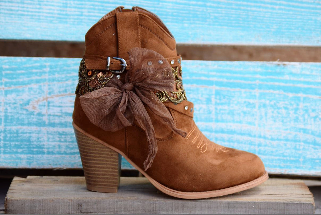 Dust On The Bottle Boots - Tan - Miami Shoe - Boots - Angel Heart Boutique  - 4