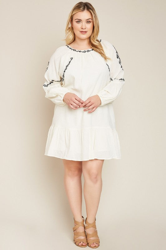 Southern Edge Dress - Cream [product type] - Angel Heart Boutique