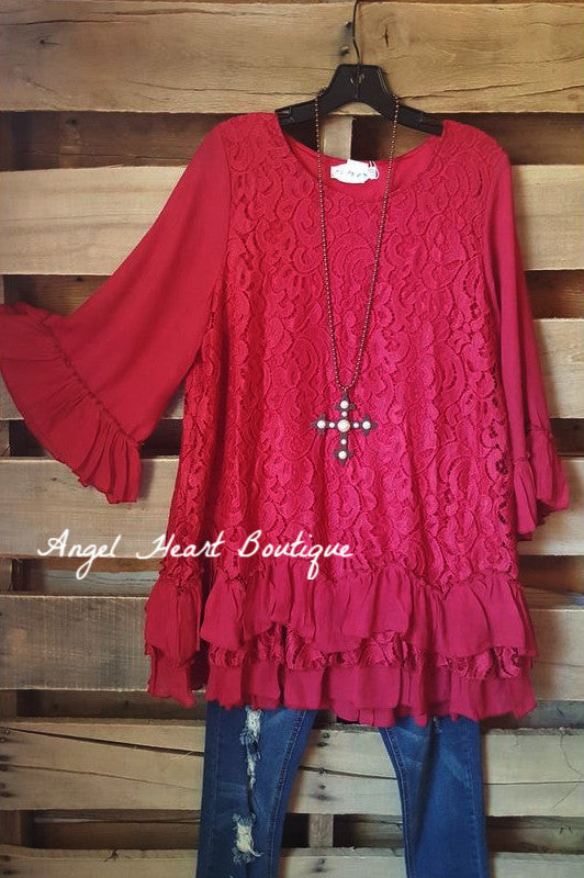 Fab Intuition Tunic - Red - Angel Heart Boutique - Tunic - Angel Heart Boutique  - 2