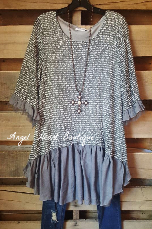 Grace & Love Sweater - Grey - Sassybling - Sweater - Angel Heart Boutique  - 1