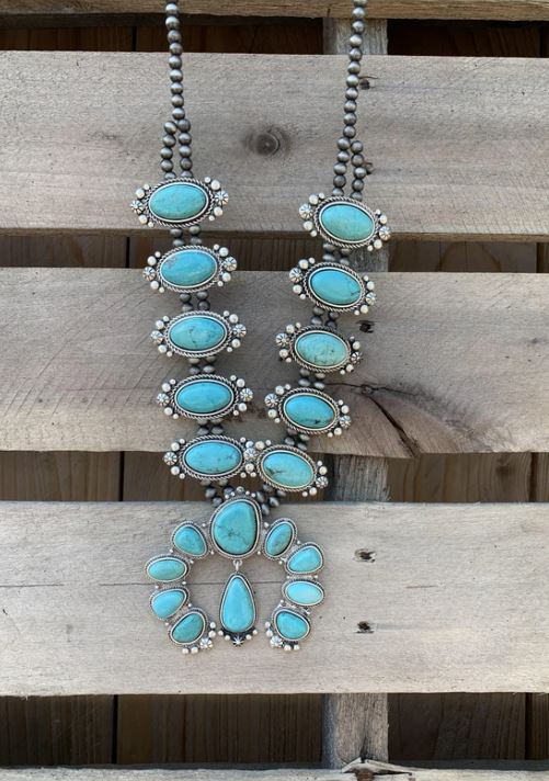 AUTHENTIC TURQUOISE STONE - SEAX Necklace