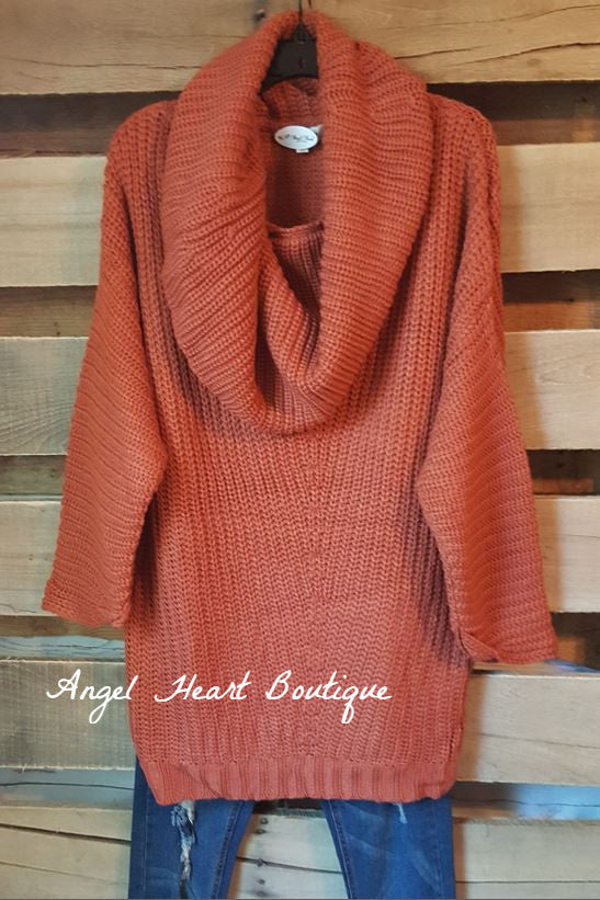 Perfect Weather Sweater -Brick [product type] - Angel Heart Boutique