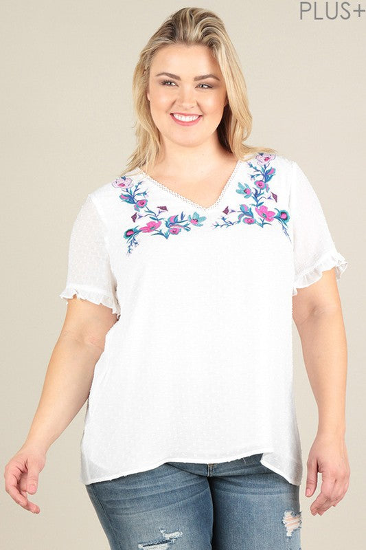 Sweet Romance Top - White [product type] - Angel Heart Boutique