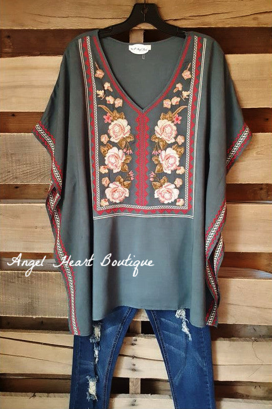 Love Notes Tunic - Hunter Green - Andree By Unit - Tunic - Angel Heart Boutique  - 2
