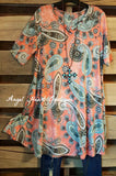 Love Notes Tunic - Hunter Green - Andree By Unit - Tunic - Angel Heart Boutique  - 1