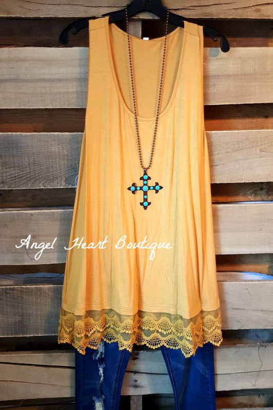 Extender: Slip on Tank/Tunic - Mustard [product type] - Angel Heart Boutique
