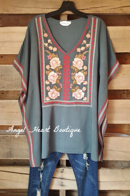 Love Notes Tunic - Hunter Green - Andree By Unit - Tunic - Angel Heart Boutique  - 4