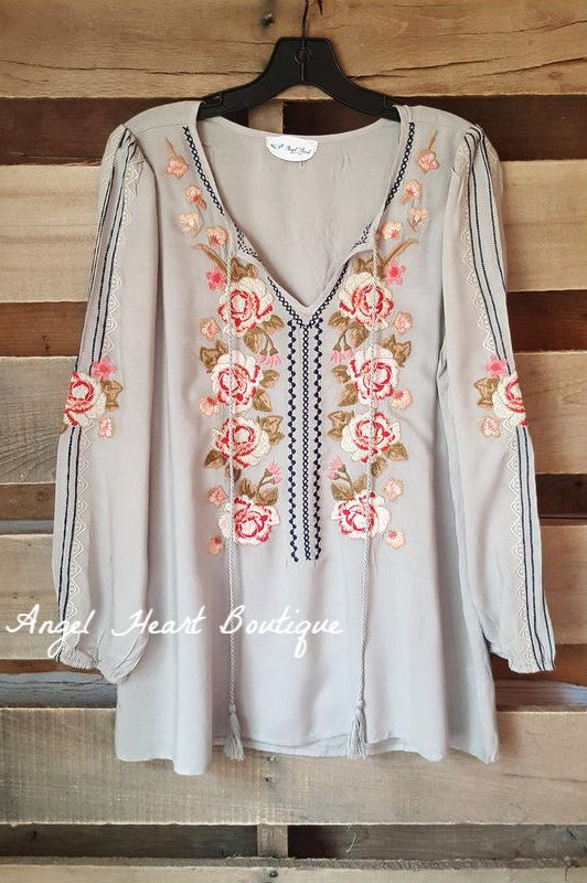 In The Name Of Love Top - Sage - Andree By Unit - Tunic - Angel Heart Boutique  - 2