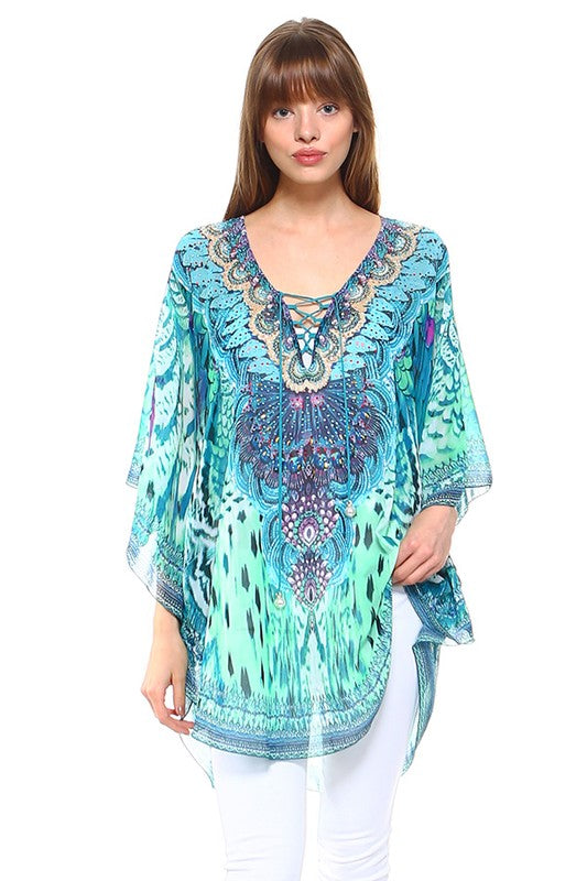 Living Your Best Life Kaftan- Green [product type] - Angel Heart Boutique
