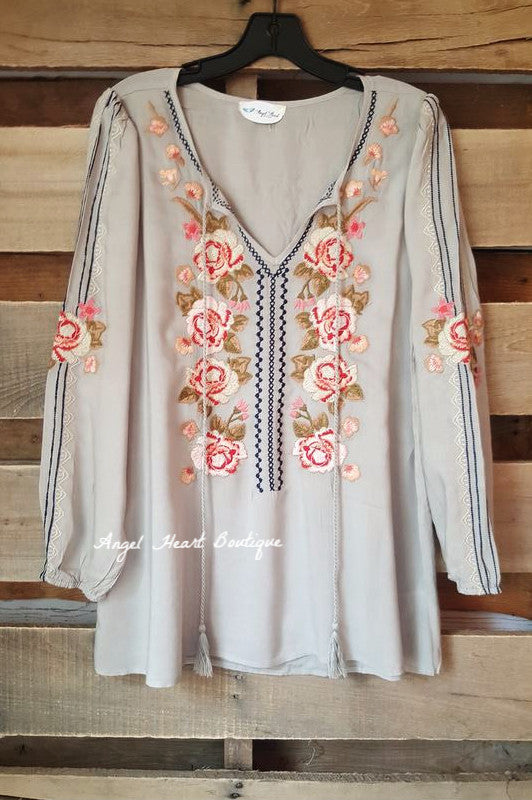 In The Name Of Love Top - Sage - Andree By Unit - Tunic - Angel Heart Boutique  - 3