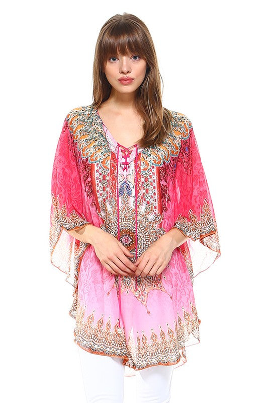 Living Your Best Life Kaftan- Pink [product type] - Angel Heart Boutique