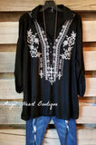 Back To Beauty Tunic - Black [product type] - Angel Heart Boutique