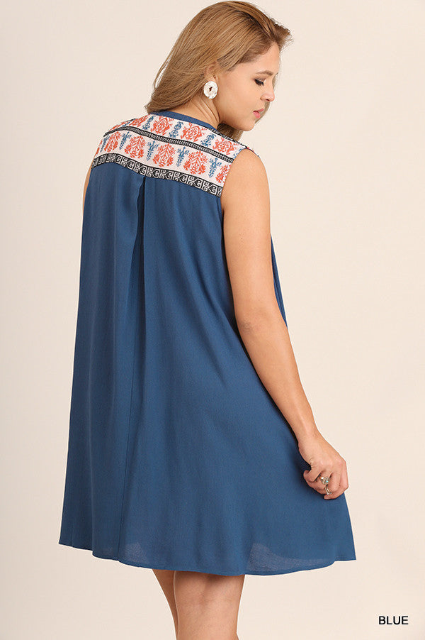At This Moment Dress - Blue - SALE