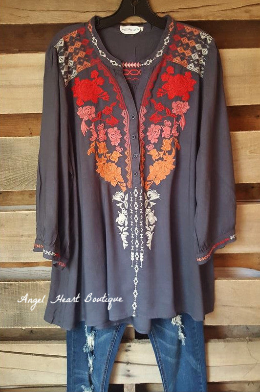 Like A Dream Tunic - Red Mix - Andree By Unit - Tunic - Angel Heart Boutique  - 4