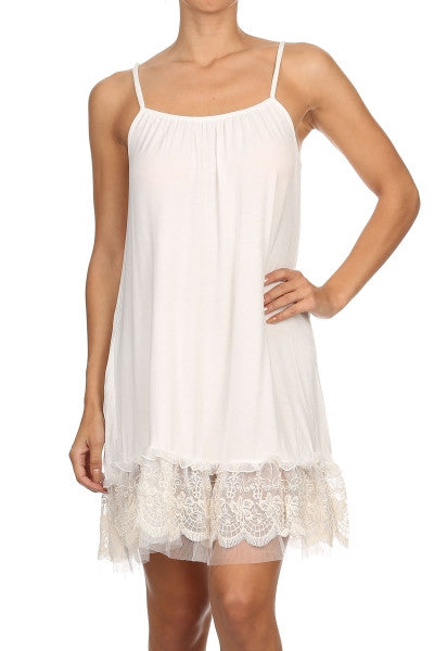 Slip On Dress - White - Angel Hear - Dress - Angel Heart Boutique  - 7