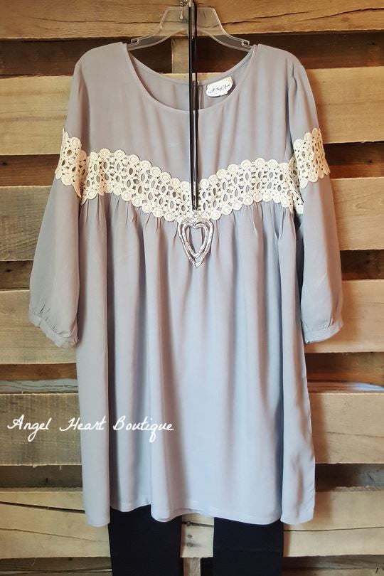 Just One Kiss Dress - Gray - Umgee - Dress - Angel Heart Boutique  - 2