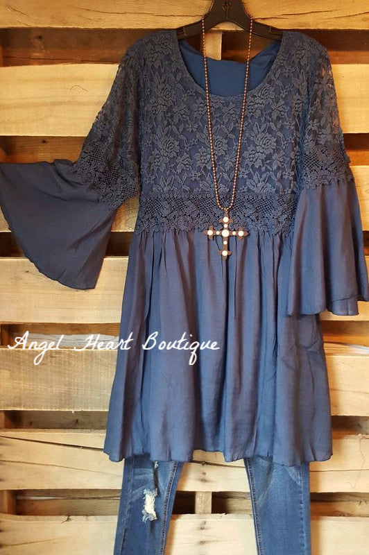 Stuck in Love Dress - Navy [product type] - Angel Heart Boutique