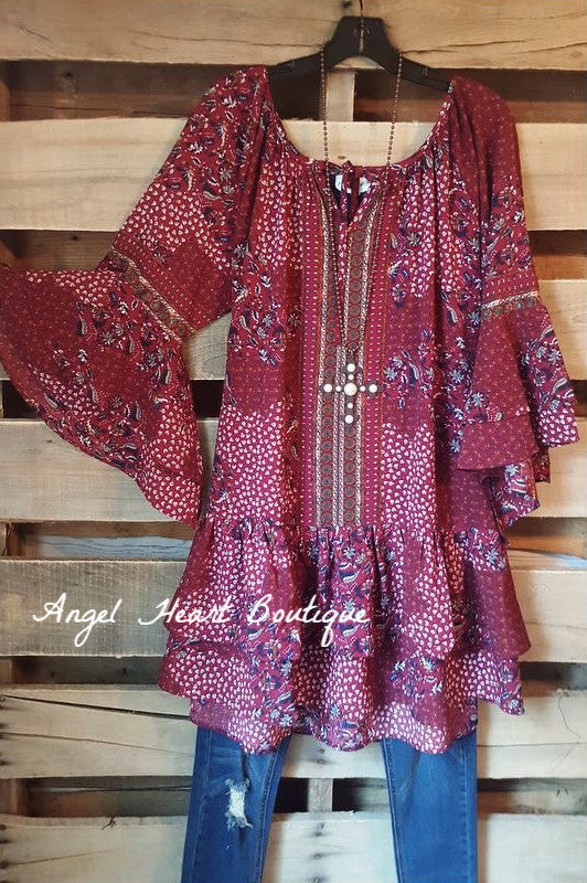 My Favorite Feeling Dress - Wine - Umgee - Dress - Angel Heart Boutique  - 3