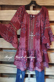 My Favorite Feeling Dress - Wine - Umgee - Dress - Angel Heart Boutique  - 2