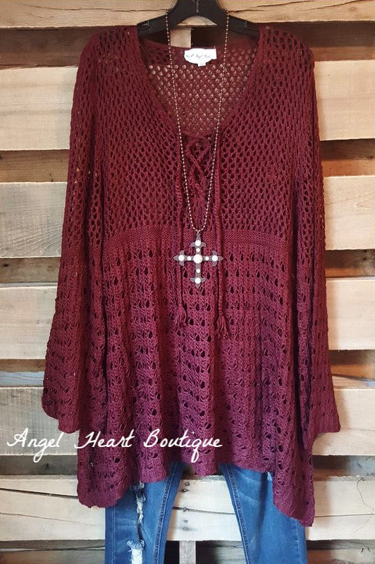 Chic & Comfy Sweater - Wine - Umgee - Dress - Angel Heart Boutique  - 2